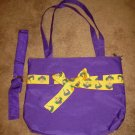 Purple Mardi Gras Tote Bag Carry All & Book Strap for Child or Adult New! #X202