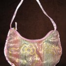Licensed Pink Sequin Sparkle Hello Kitty Purse NICE! #X197