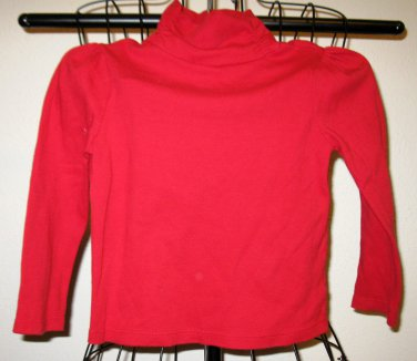 Red Turtle Neck Top by Faded Glory Size 6-6x New! #X189