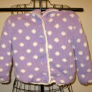 Beautiful Purple Sweater Hoodie by Feu Fallet Child Size 5 Nice! #X166