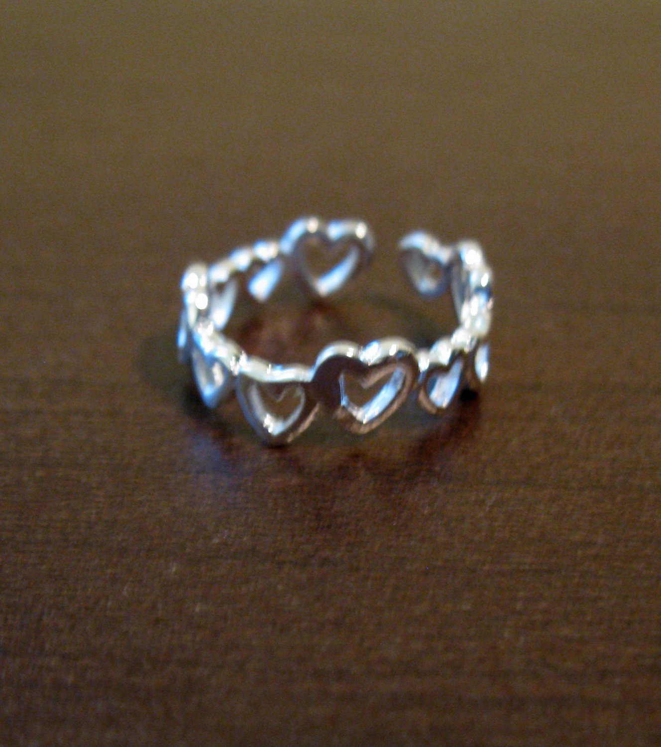Silver Heart Adjustable Toe Ring New & Hot! #D511