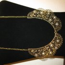 Beautiful Antique Gold Chunky Lace Design Bib Necklace New & Hot! #D660