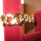 Gorgeous Wide Chain Link Gold Bracelet New! #D781
