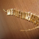 Gorgeous Wide Gold Bracelet New! #D779