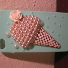Mint Green Hard Shell Case for Apple IPhone 3,4,5 Ice Cream Cone New! #D807
