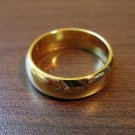 Lovely Polished Gold Unisex Wedding Band Ring Size 6.5 NEW! #D572A