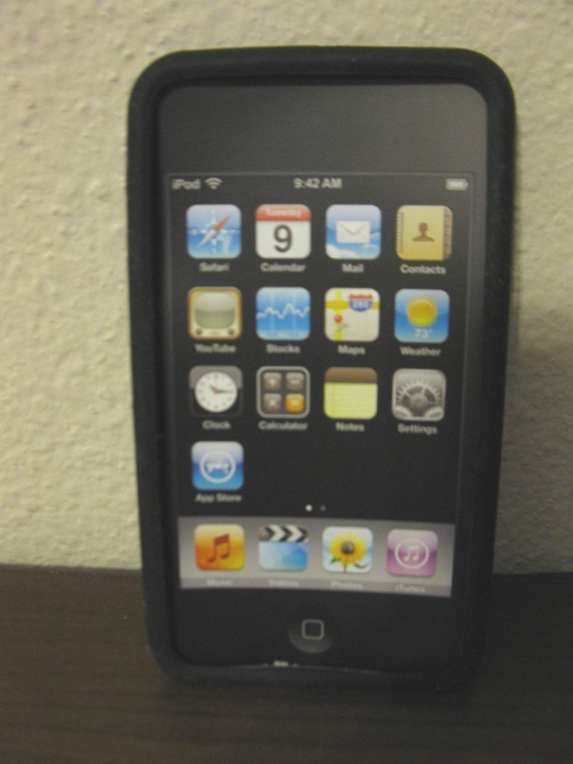 Black Phone Case With for Apple IPhone 3 &4/S New! #R35