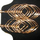 Exotic Large Gold Pierced Spiral Earrings New! #D715