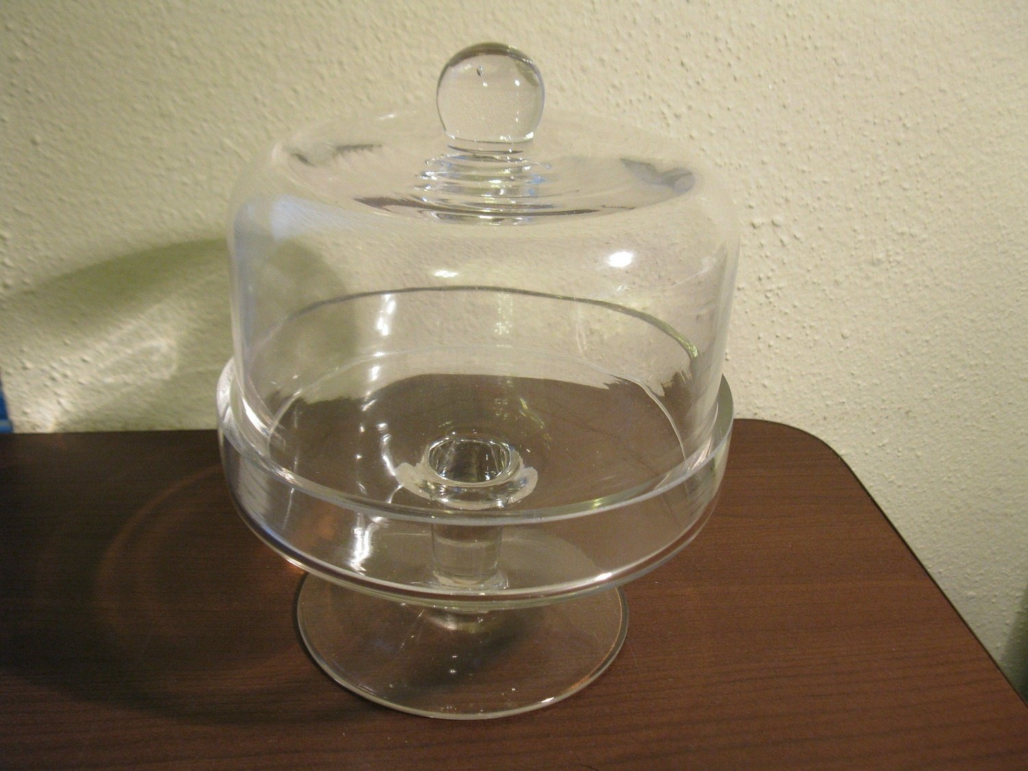 Sale! Taste of Home Clear Glass Small Domed Stand #3001 New! #T1086