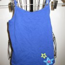 Blue Shell With Star Design Shell by 1989 Place Child Size L (10-12) Nice! #X255