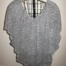 Grey Floral Top with Dolman Sleeves by George Size XL Nice! #X249