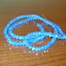 Sparkling Powder Blue Crystal Beads 10 in String Excellent Quality New! #D945