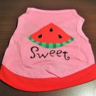 Adorable Pink Sweet Watermelon TShirt for Puppy Size XS New! #D949