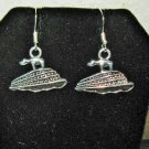 Lovely Tibetan Silver Cruise Ship Charm Earrings 1 in New! #D915