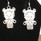 Precious Pig Tail Baby Charm Earrings 1.5 in New! #D920