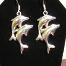 Adorable Dolphin Charm Earrings 1.75 in New! #D919