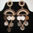 Beautiful Large Chandelier Coin Earrings New! #D886