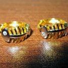 Gorgeous Fish Bone Style CZ Hoop Earrings New! #D1010