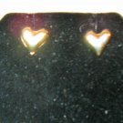 Pretty Gold Heart Stud Earrings New! #D1009