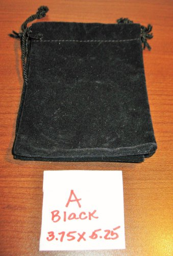 Black Jewelry Bag Pouch 1 Piece (3.75 x 5.25 in) New! #D1029A