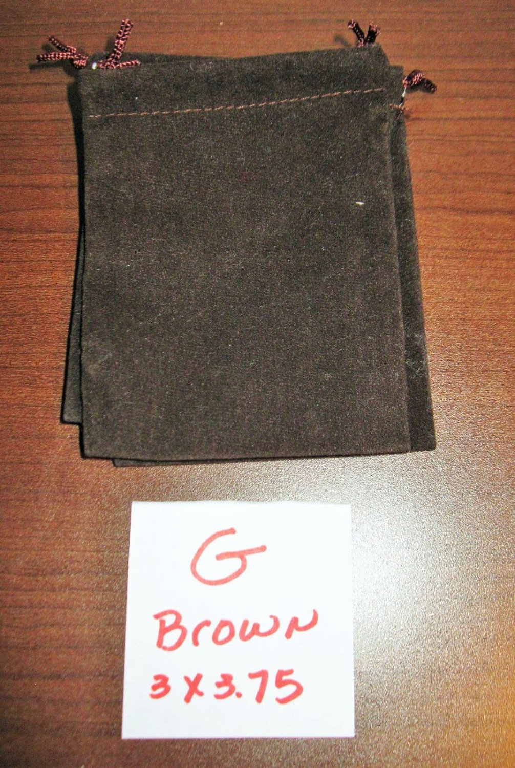 Brown Jewelry Bag Pouch 1 Piece (3 x 3.75 in) New! #D1029G