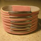 Wide Pink Studded Leather Punk Surfer Bracelet NEW & HOT! #205