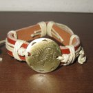 English Tan Leather Scorpio Punk Surfer Bracelet New & Hot #D824