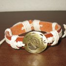 English Tan Leather Pisces Punk Surfer Bracelet New & Hot #D821