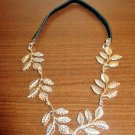 Beautiful Gold-Tone Leaf Design Headband New! #T1141