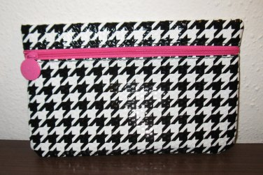 Black & White Ipsy Houndstooth Makeup Cosmetic Bag NEW #T1188