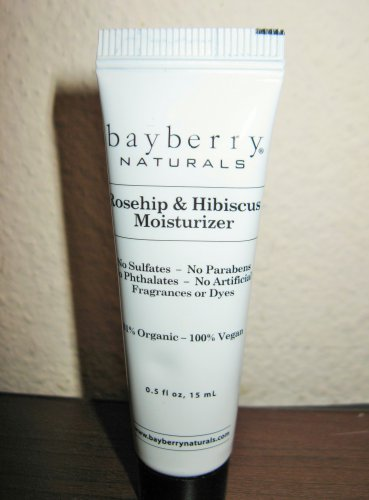 Bayberry Naturals Rosehip & Hibiscus Moisturizer 0.5 oz/ 15 ml NEW #T1185