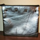 Pewter Metallic Purse Cosmetic Makeup Bag by Ipsy New! #T1143