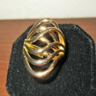 Polished Gold Wide Wave Ring Unisex Size 9 New! #D959