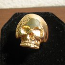 Beautiful Gold Skull Design Unisex Ring Size 9 New! #D957