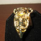 Beautiful Gold Tribal Skull Design Unisex Ring Size 9.5 New! #D951