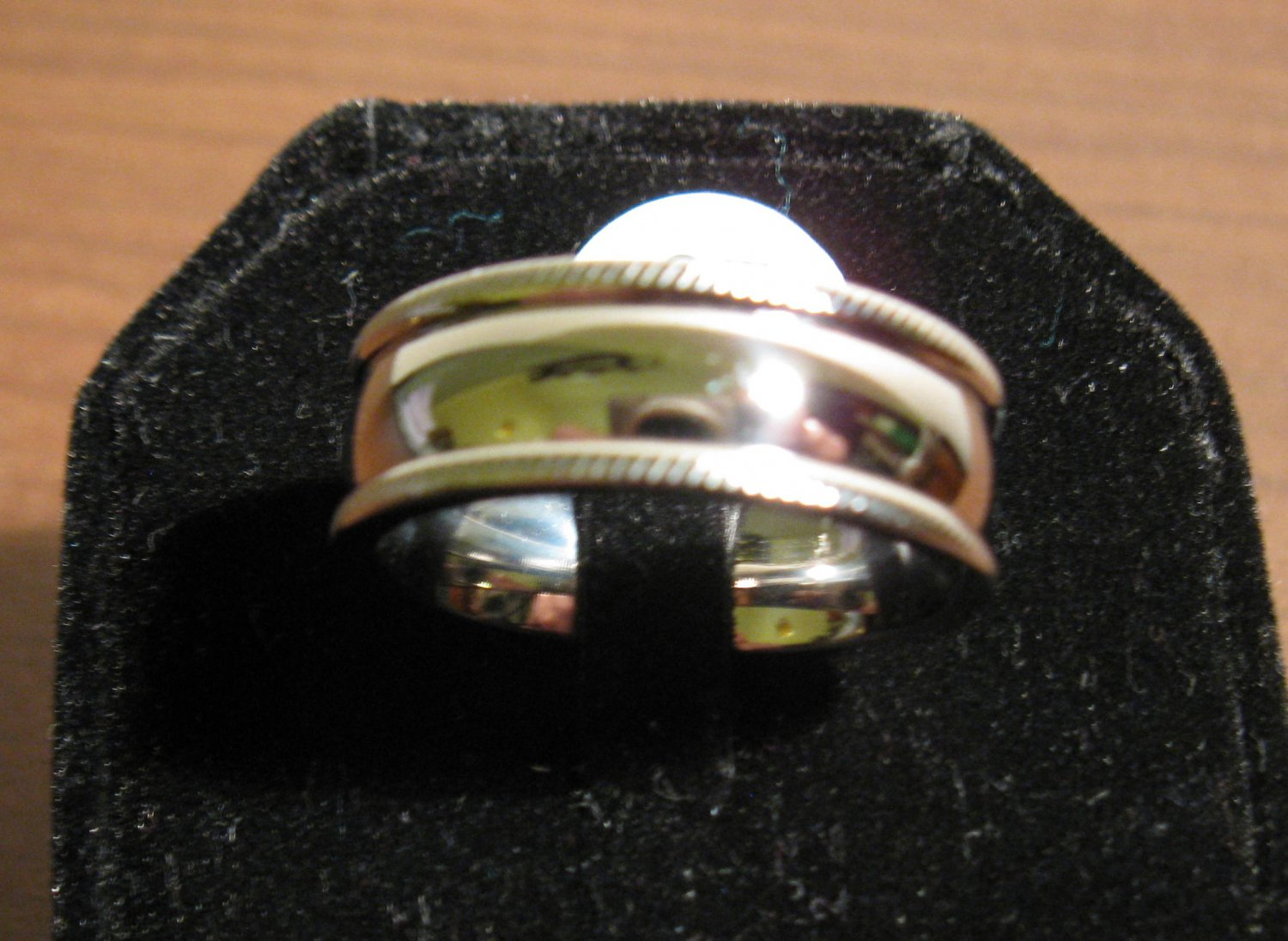 Beautiful Highly Polished Silver Band Ring Size 10 New! #D970