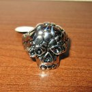Unique Silver Skull Men's Ring Size 13 New! #D1020
