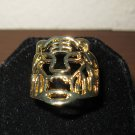 Unique Gold Tiger Head Design Unisex Ring Size 10 New! #D960