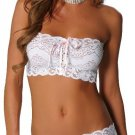 STRETCH LACE SKIRT SET WHITE ONE SIZE
