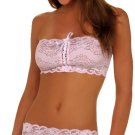 STRETCH LACE SKIRT SET PINK ONE SIZE
