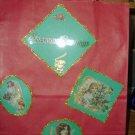 Handmade Christmas Gift Bag-Red Angels