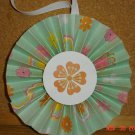 Handmade Paper Rosette Ornament-Colorful Floral-5""