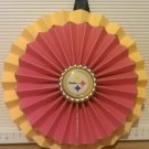 Sports Paper Double Rosette Wall Hanging-Pittsburgh Steelers