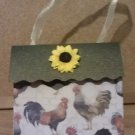 Sunflowers and Roosters #2 Paper Purse
