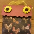 Sunflowers and Roosters #3 Paper Purse