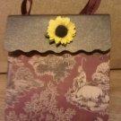 Farm Scene with Sunflower Paper Purse