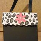 Black Cheetah/Leopard Print with Flower Paper Purse