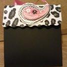 Black Cheetah/Leopard Print  Paper Purse