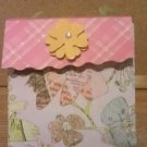 Pink and Yellow Florals Paper Purse