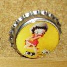 Betty Boop Bottlecap Magnet #13